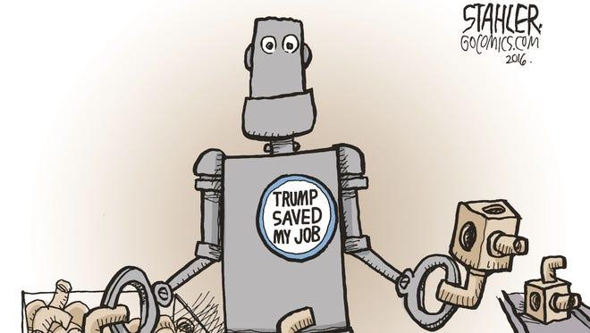 Editorial cartoon by Jeff Stahler