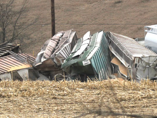 A Norfolk Southern train derailed just west of Loudonville