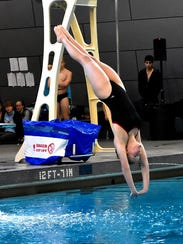 Elizabeth Cron of  Oak Hills secured a 4th place diving