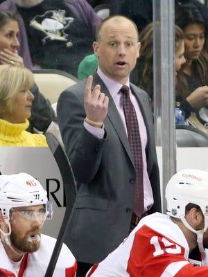 Red Wings coach Jeff Blashill
