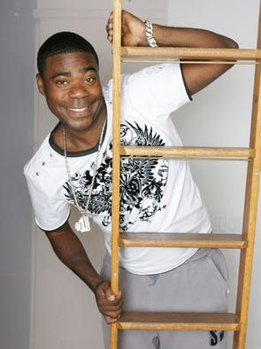 Comedian Tracy Morgan at home in New York City in 2009.