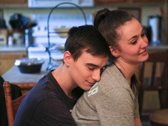 """Scottie Combs has been clean from heroin since May 2016. He finds strength in his girlfriend Kaylee Perry. 'It's nice to have someone to talk to,"""" the former addict says."""