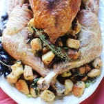 Roasting the turkey in pieces helps it cook more evenly.