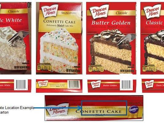 Duncan Hines cake recall