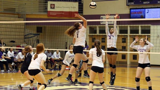 Avon vs. Ben Davis volleyball