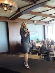Keynote speaker Carrie Morgridge, vice president of