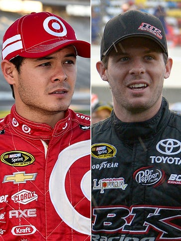Kyle Larson, left, says fans used to mistake him for