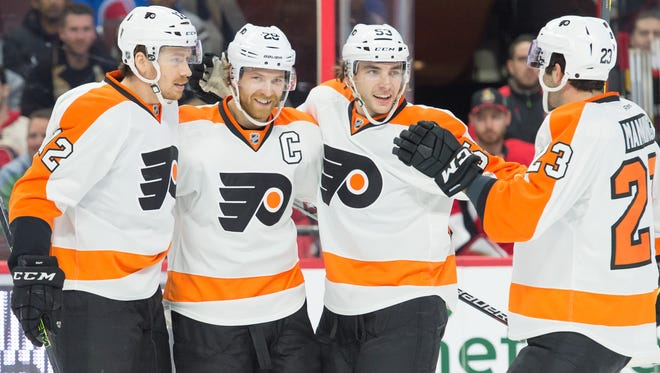 The Flyers have scored 14 goals in the last five games and hope the offense keeps rolling against the stingy New Jersey Devils.