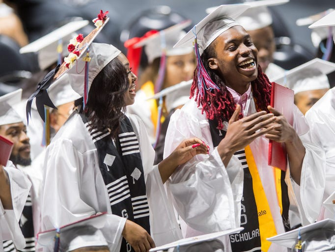 Scenes from Austin-East's graduation at Thompson-Boling
