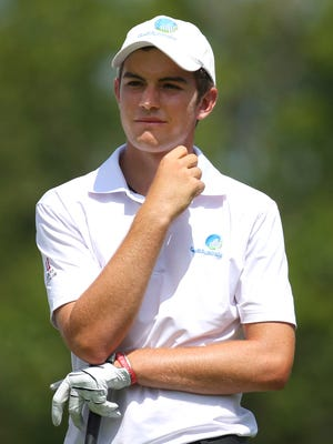 Jul 24, 2015: Ryan Ruffels (AUS) waits on the second tee box in the second round of the RBC Canadian Open at Glen Abbey Golf Club.