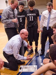 Plymouth varsity boys basketball coach Mike Soukup