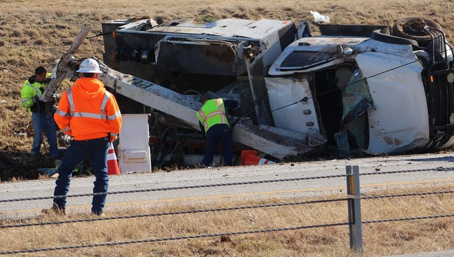 A truck overturned on westbound Interstate 20 earlier this year, causing traffic to halt and leading to a pileup at which there were fatalities.