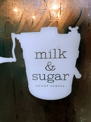 Aimee Blume / Special to The Courier & Press The Milk and Sugar Scoop Shoppe can be found at 2021 W. Franklin St., next door to Sweet Peony Gift Shoppe.