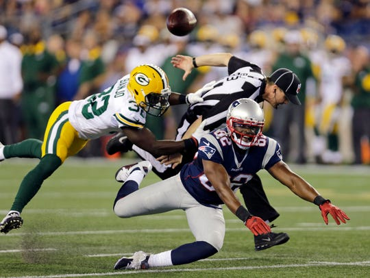 Green Bay Packers strong safety Chris Banjo (32) breaks