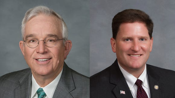 Rep. Roger West, left, and Rep. Chris Whitmire