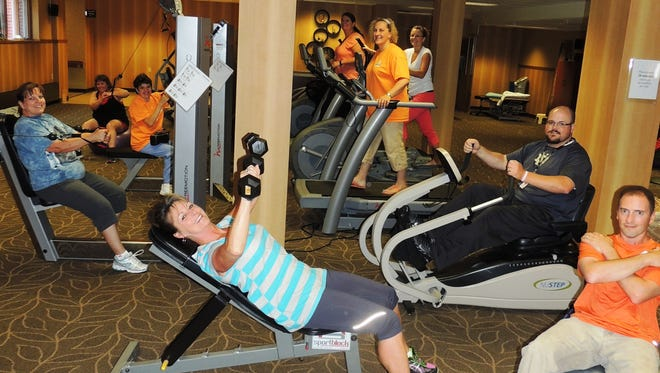 Team members utilize the facility, fitness classes and wellness programs offered by various Wellness staff including Mary Jo Neumann, Karla Wolff, Amy Ewerdt and Lenore Gerhartz.