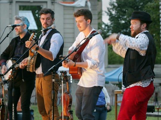 The Irish band We Banjo 3 performs during the Levitt AMP Sheboygan Music Series Thursday Aug. 6, 2015 in Sheboygan.