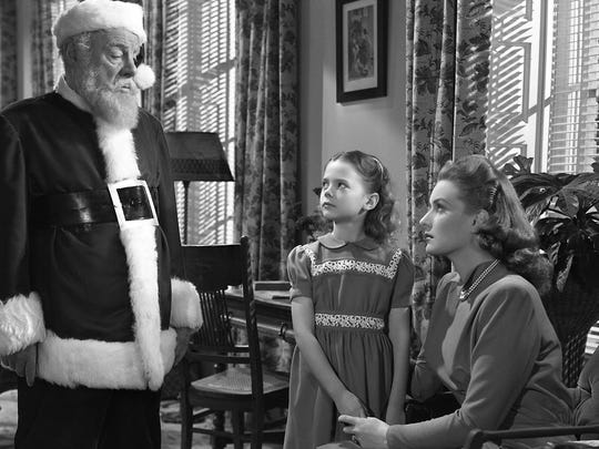 Edmund Gwenn Natalie Wood and Maureen O Hara in Miracle on 34th Street publicity still.