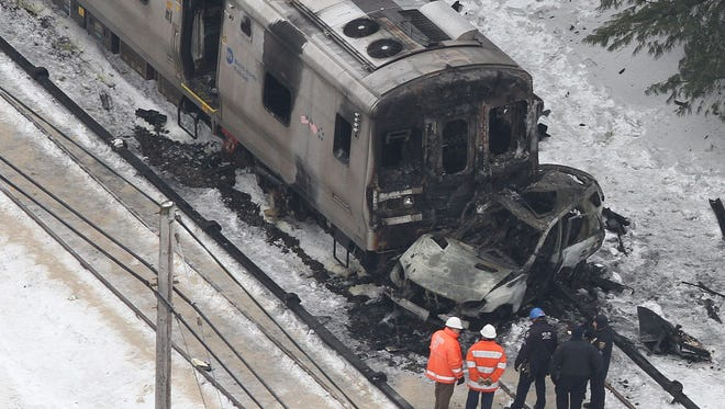 Aerial views of the Metro North train accident at the Commerce Street crossing in Valhalla on Feb. 4.