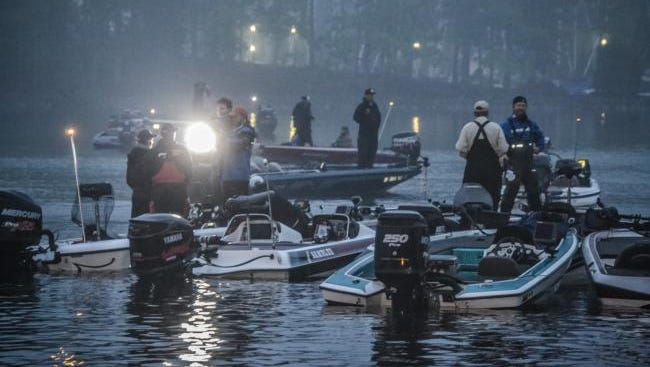 Competitors get ready for blast-off Friday morning on Day 2 of the three-day FLW College Fishing National Championships.