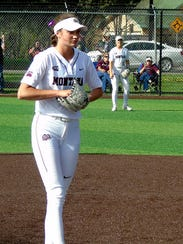 Tristin Achenbach pitches for the University of Montana
