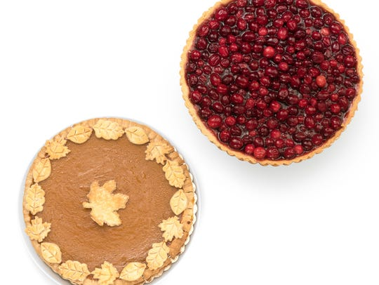 Cranberry Pie and Pumpkin Pie from Baking Grace in
