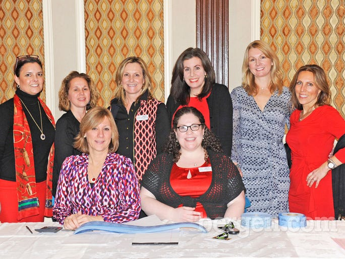 Staff of OASIS - A Haven for Women and Children - from left to right - Jennifer Brady, Linda Sisti, Doreen Merkovsky, Lynn McCormack, Signe Howard, Barbara Loscalzo, Evenlyn Innocenti and Kathleen Long (Photo by Hildi Borkowski)
