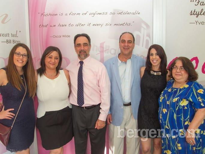 Jenna Nelson, Samantha Sgroi, John Claude Hallak, Joseph Claude Hallak Jr., Donna Serino , Leah Brenner (Photo by Richard Formicola)