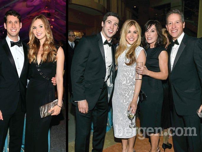 Two group photos that exemplify stellar fashion