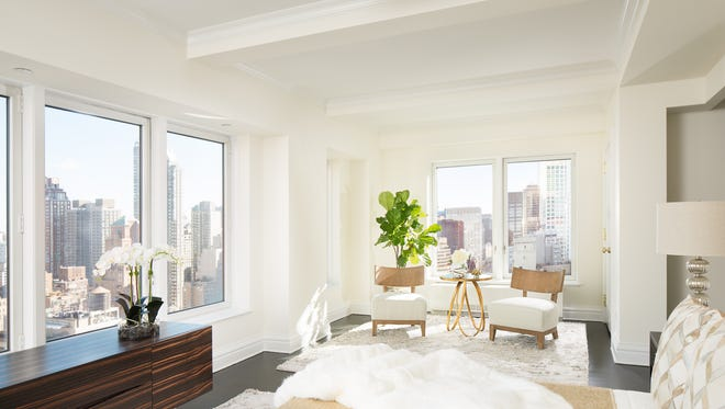 The Trump building's penthouse has stunning views of New York City.