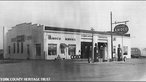Square Deal Garage, 2181 South Queen Street, York Township, York County, PA (Circa 1950s Photo from Collections of York County Heritage Trust)