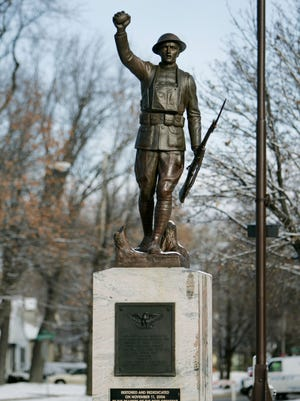 The Doughboy statue was rededicated in 2006 at a ceremony on Memorial Drive in Appleton.
