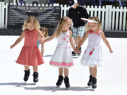 """Some of ChillFest's perks include a chance to skate with """"holiday mascots,"""" watching the Snowgirls Holiday Revue performance and Snow Blitz, where kids can enjoyfalling snow and wintry special effects."""