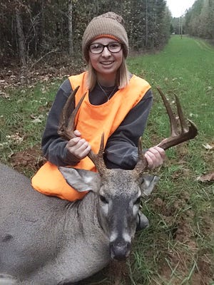 Sara Bailey Jones, 15, of Kosciusko, harvested her first buck of the season while hunting with her father in Attala County.