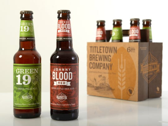 Titletown Brewing Co. now offers Green 19 India Pale Ale and Johnny Blood Red in bottles at several retail locations around the Green Bay area.
