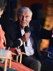 Actor Adam West speaks onstage at 'Batman: The Movie'