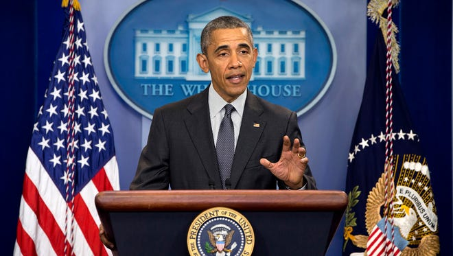 The White House announced Wednesday, April 27, 2016, that President Obama will visit Flint, Mich., on Wednesday, May 4, 2016. Here, Obama speaks about new rules aimed at deterring tax inversions, Tuesday, April 5, 2016, at the White House.