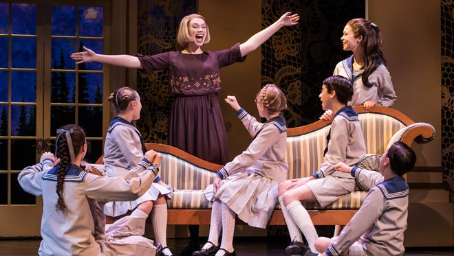 "Charlotte Maltby as Maria  with the von Trapp children in ""The Sound of Music."""