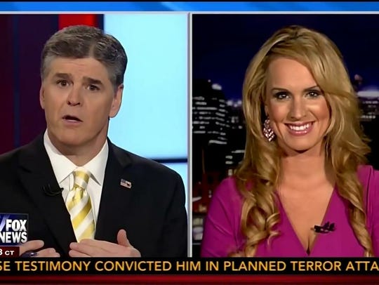 Scottie Nell Hughes, right, on a recent show with Fox