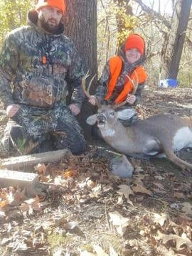 Ashton (Turtle) White took this 10 point buck on opening morning with his step dad Jake Harkins.