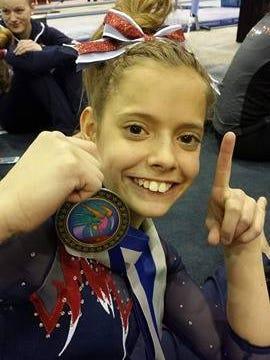 All-American Flames gymnast Sage Kellerman is the Times Herald Athlete of the Week.