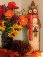 This owl statuette is one of Tina Martz's most treasured possessions. Daniel Martz texted a photo of it to her from a thrift store on the day he died. She found and bought after his funeral.