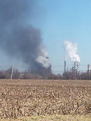 A stuck valve at the Delaware City Refinery forced a shutdown and sent up a huge, sooty steam plume in 2015.