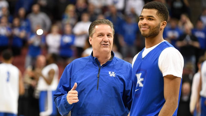 Kentucky coach John Calipari says Andrew Harrison is playing with a lot of confidence.