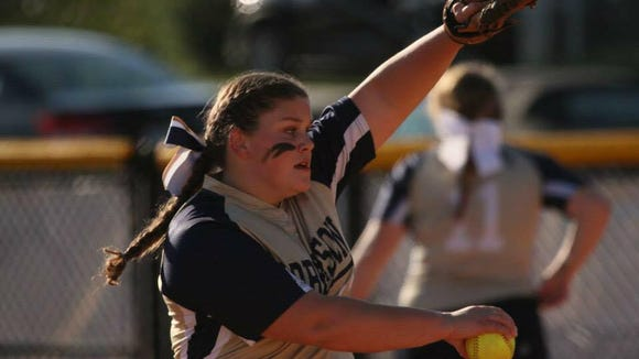 Sam Schmidt is 8-2 as a pitcher for Roberson softball this season.