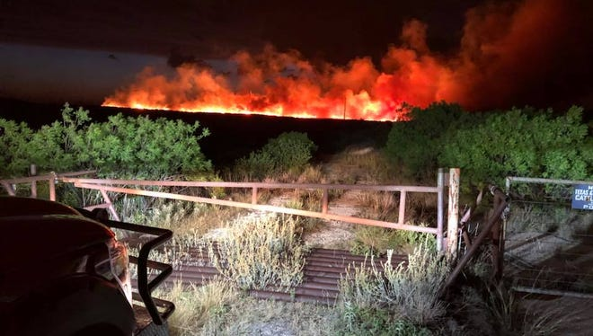 Lightning on Saturday sparked two of three wildfires south of Sweetwater in Nolan County.