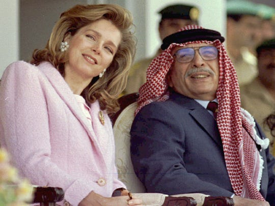 Born Lisa Najeeb Halaby, the American-born citizen became Queen Noor after her marriage to Jordan's King Hussein in 1978,