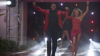 Rashad Jennings and Emma Slater on night two of the finale of 'DWTS.'