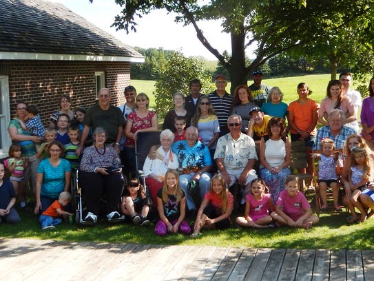 Descendants of Sophie and Carl Eberhardt gather at