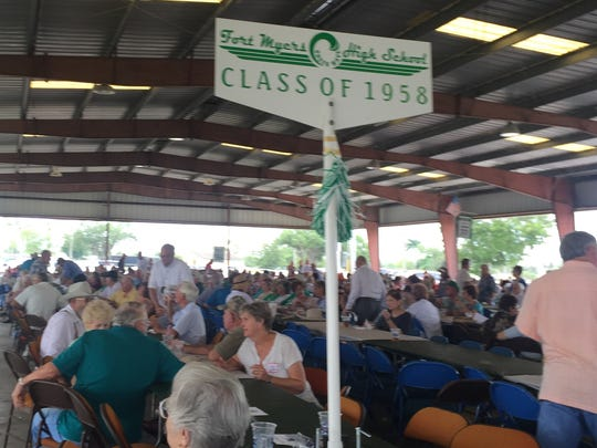 Area high schools gather by class at the annual Pioneer Club picnic.